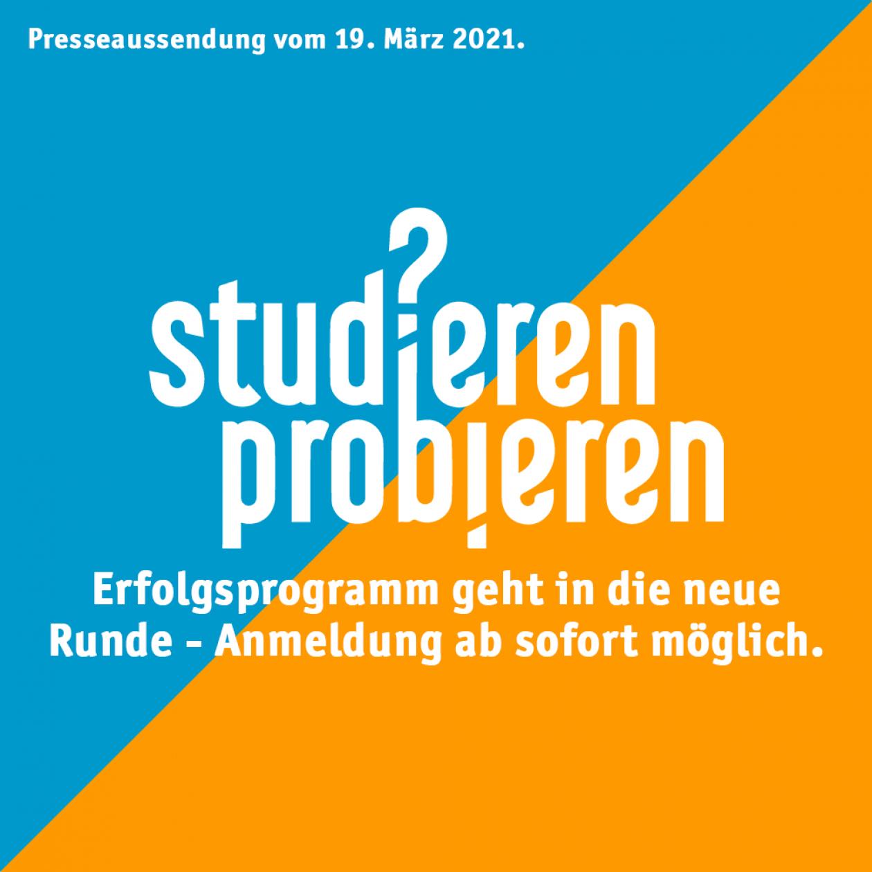 """Erfolgsprogramm der ÖH """"Studieren Probieren"""" geht in neue Runde"""