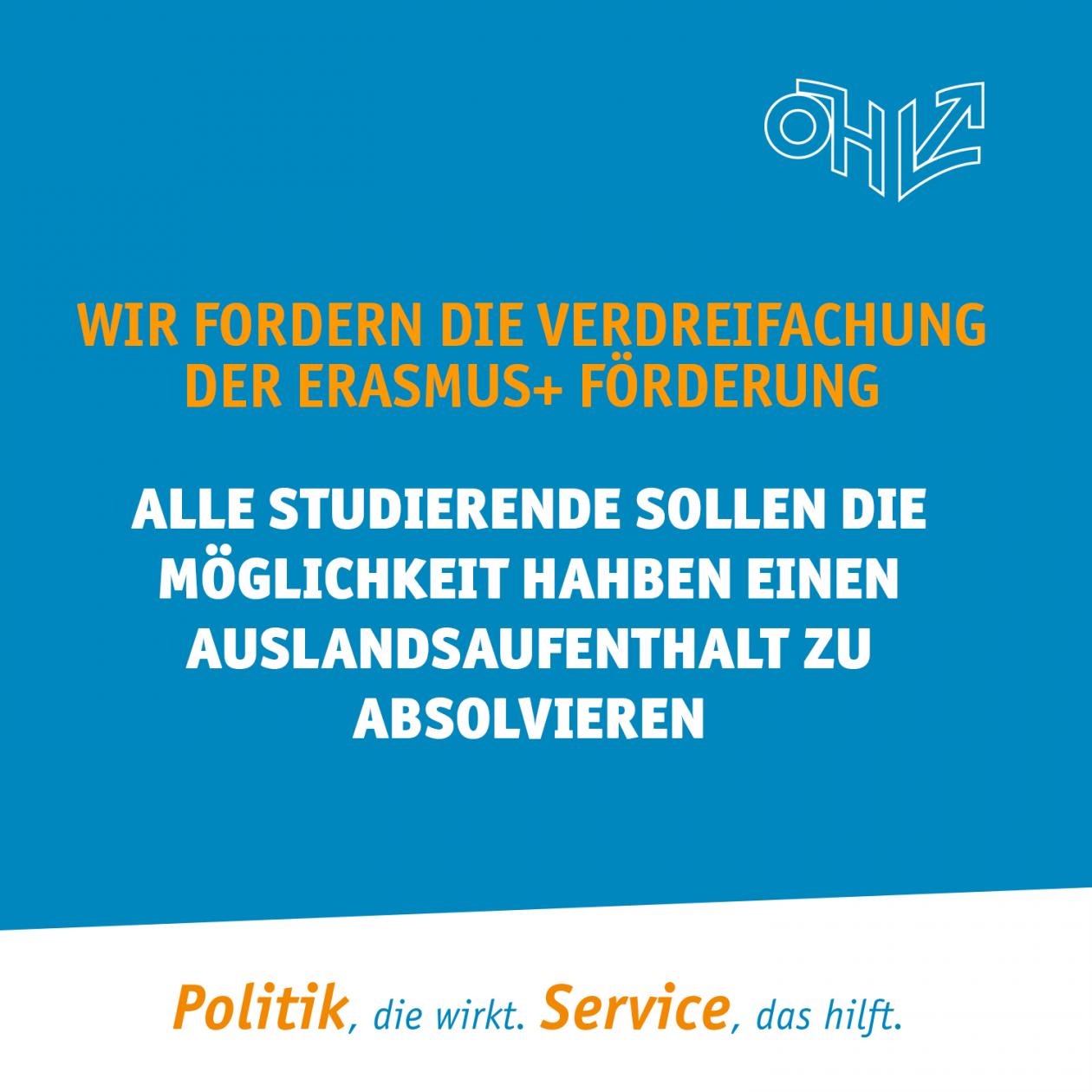 Erasmus+ muss ausfinanziert werden