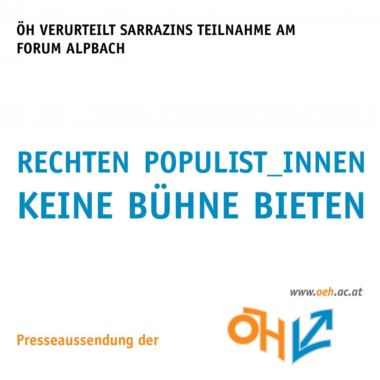 Rechten Populist_innen keine Bühne bieten