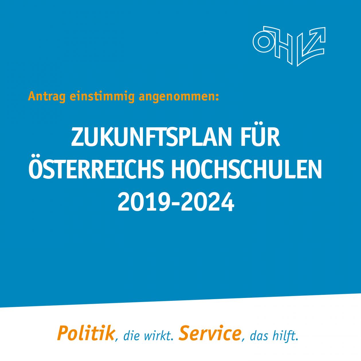 Stellungnahme Zukunftsplan für Österreichs Hochschulen 2019-2024