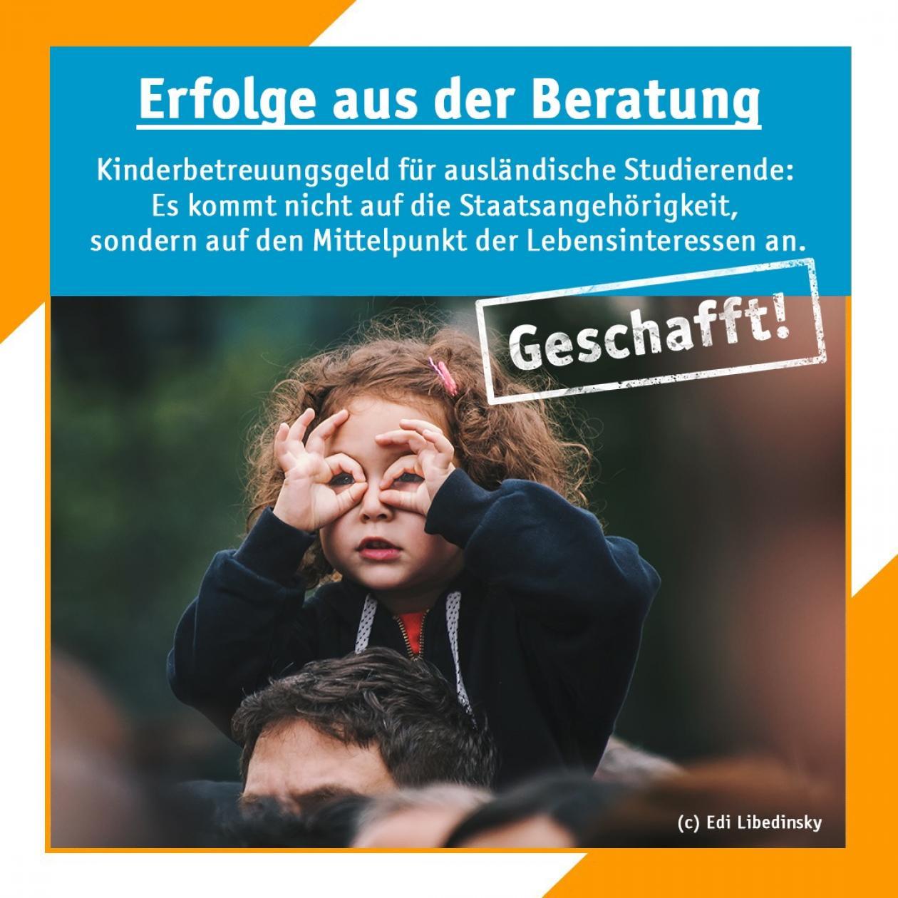 Geschafft! Kinderbetreuungsgeld für ausländische Studierende: Es kommt nicht auf die Staatsangehörigkeit, sondern auf den Mittel