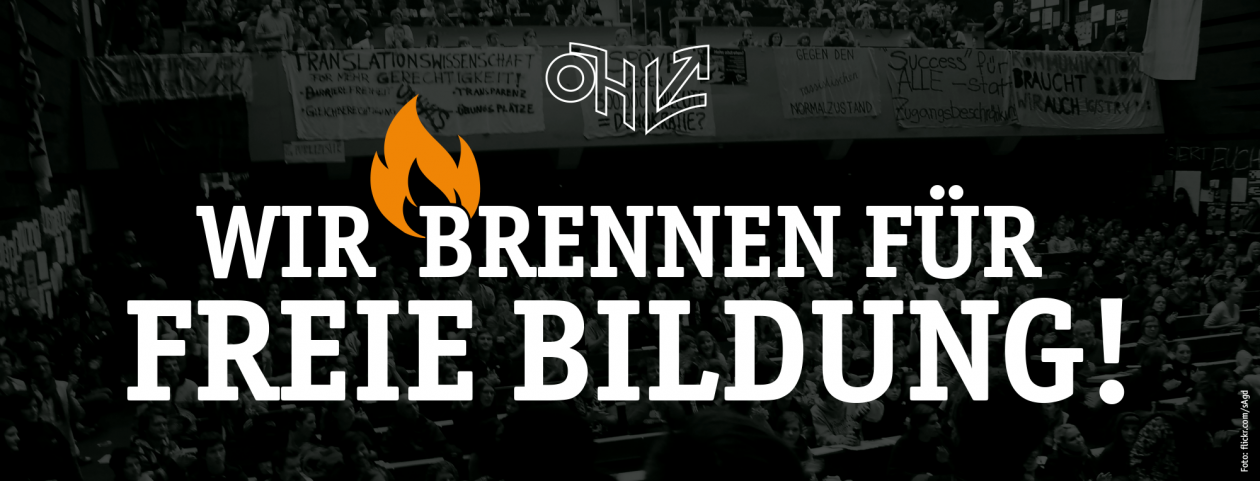 Wir brennen für freie Bildung! #freiebildung