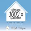 Flyer Kampagne: Flüchtende 1000x Willkommen