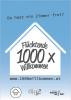 Poster Kampagne: Flüchtende 1000x Willkommen