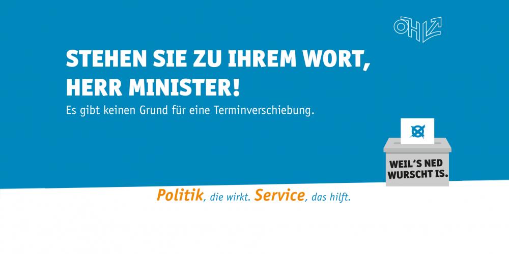 Terminverschiebung ÖH-Wahl 2019: Offener Brief