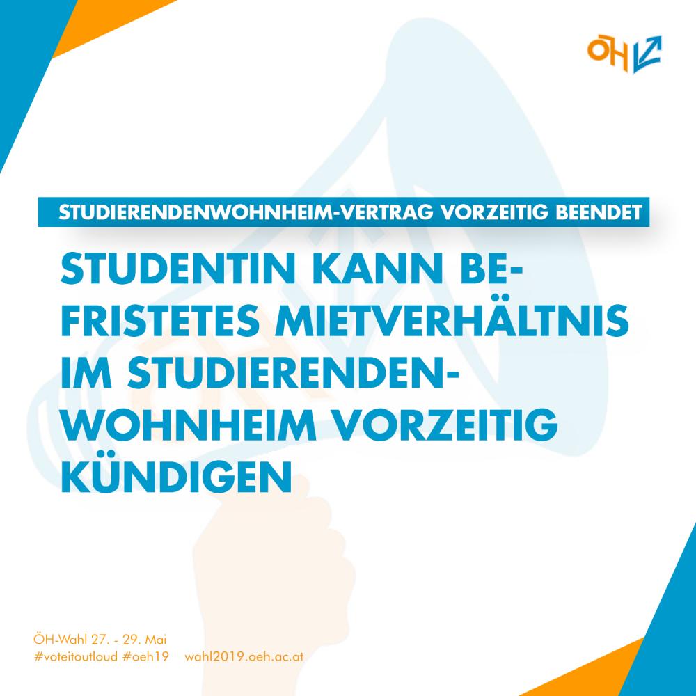 Studierendenwohnheim-Vertrag vorzeitig beendet: Studentin kann befristetes Mietverhältnis im Studierendenwohnheim vor