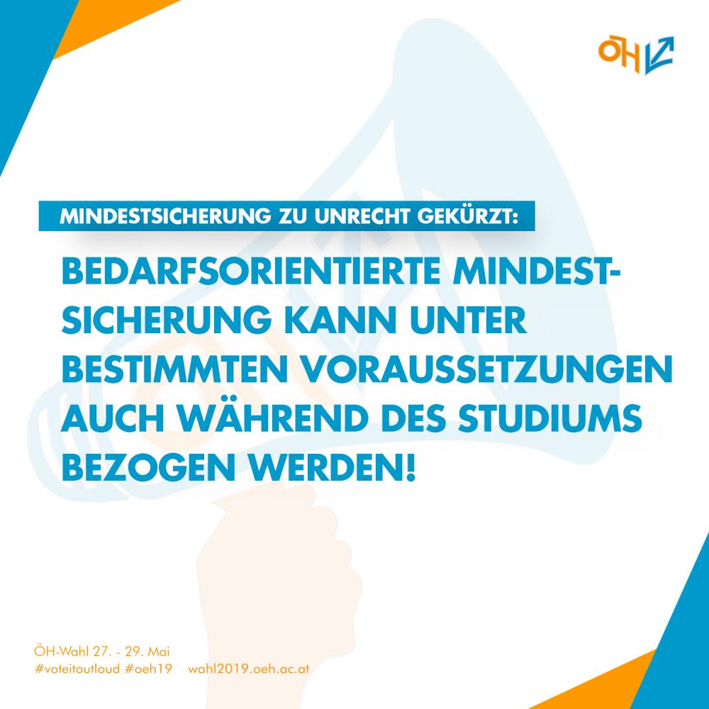 Die Bedarfsorientierte Mindestsicherung kann unter bestimmten Voraussetzungen auch während eines Studiums bezogen werden!