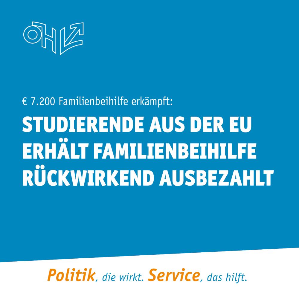 € 7.200 Familienbeihilfe erkämpft: Studierende aus der EU erhält die Familienbeihilfe rückwirkend ausbezahlt
