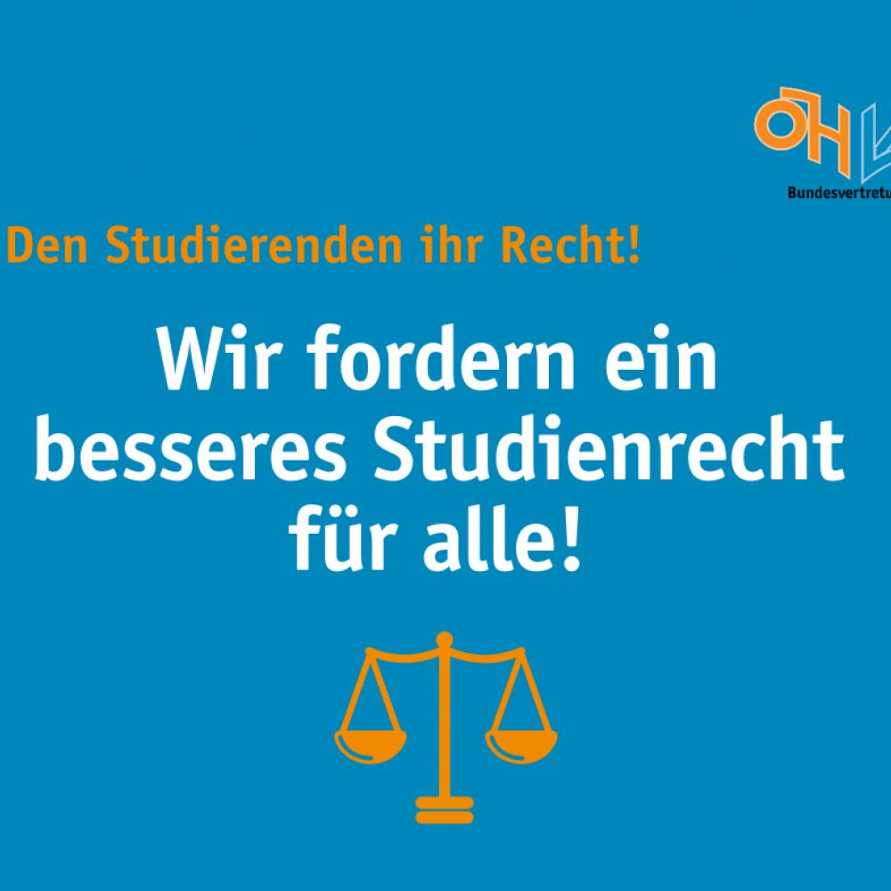 Wir fordern ein besseres Studienrecht für alle!