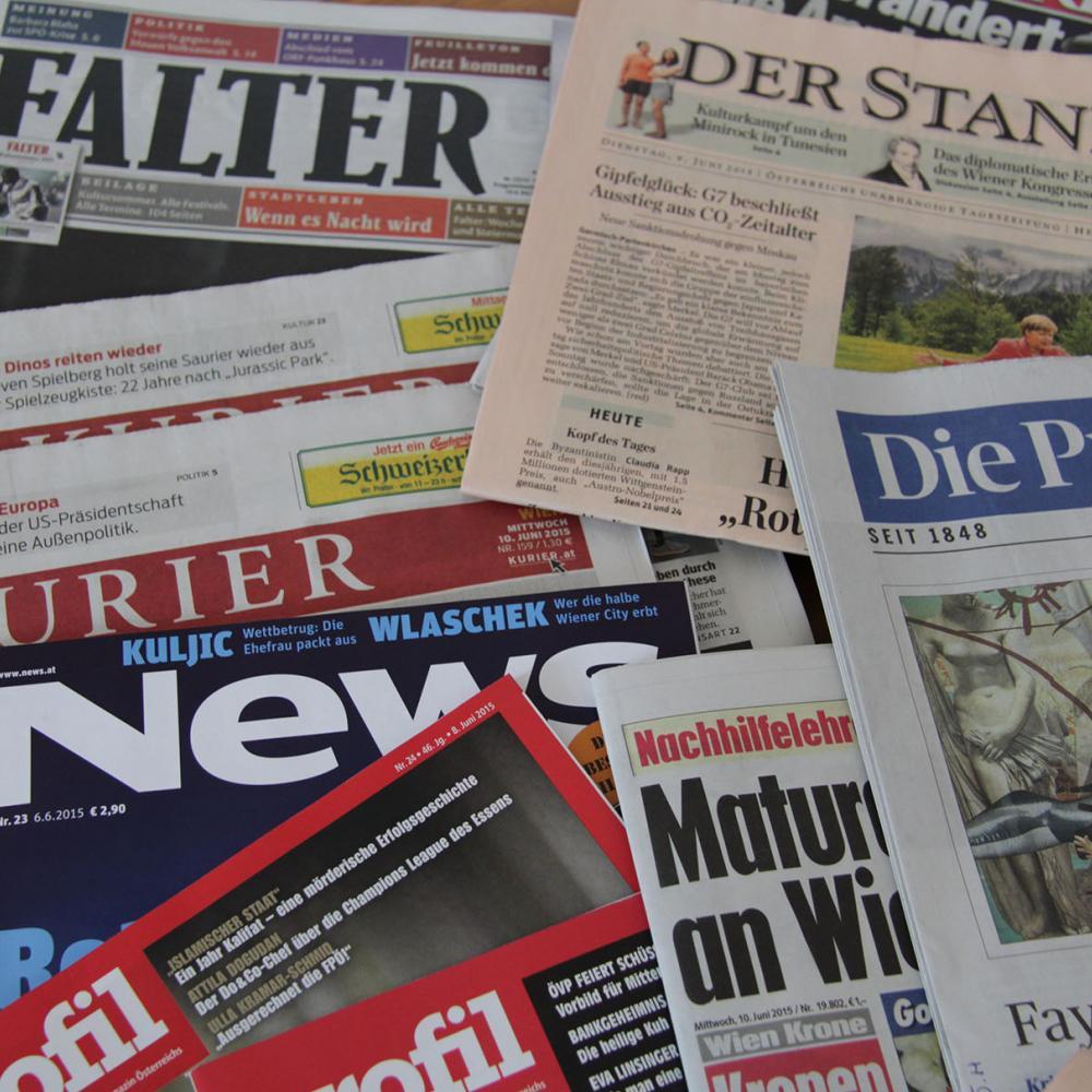 Symbolbild Presseaussendungen