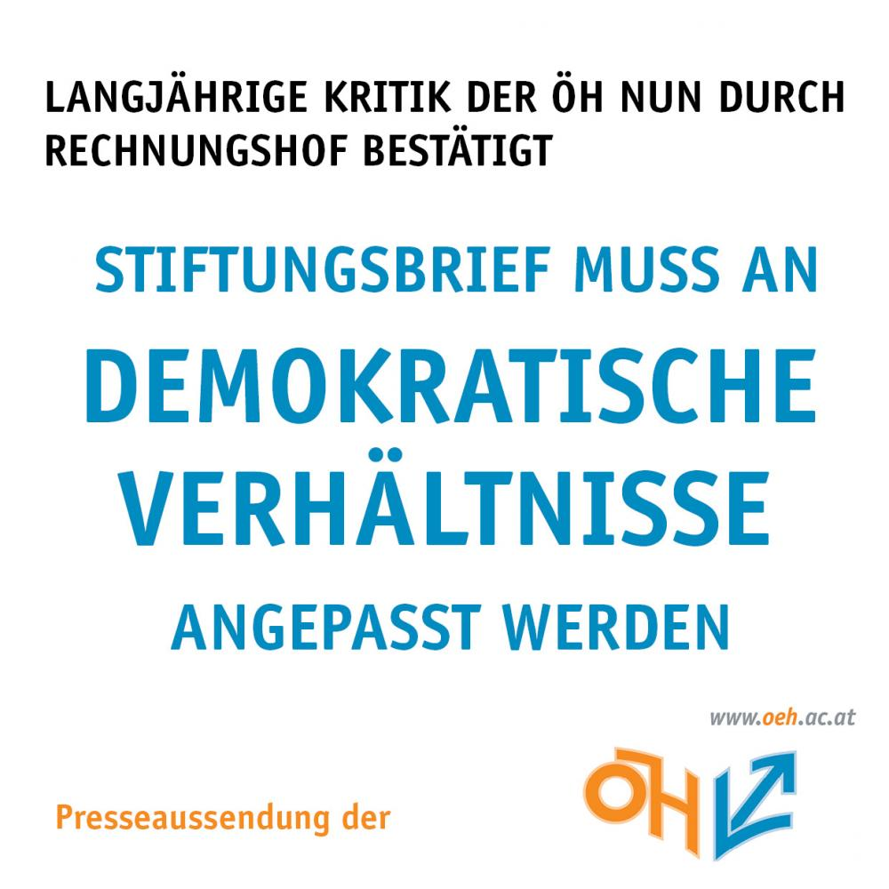Stiftungsbrief muss an demokratische Verhältnisse angepasst werden